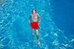 Child Has Fun In The Pool Stock Image