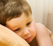 Child has woken up Stock Image