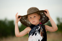 Child in hat Stock Photography