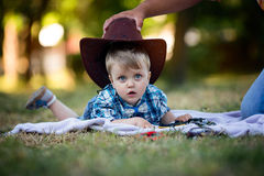 Child and Hat royalty free stock photography