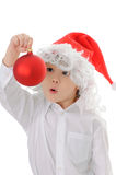 Child in a hat santa claus royalty free stock image