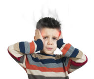 Child have headache Stock Images