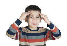 Child have headache Stock Image