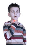Child have sore throat sick Stock Photography