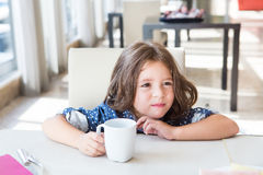 Child having breakfast Royalty Free Stock Photos