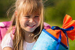 Child having first day at school Stock Image
