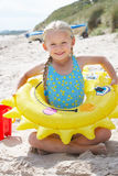 Child having fun on beach Royalty Free Stock Images