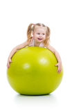 Child with gymnastic ball Royalty Free Stock Photography