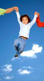 Child having fun with parents Royalty Free Stock Photography