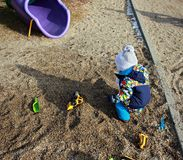 Child having fun in the playground Royalty Free Stock Photos