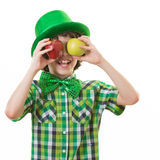 Child having Fun in Saint Patrick Celebration Stock Image
