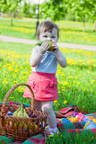 Child having picnic Stock Image