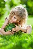 Child having picnic Royalty Free Stock Photography