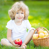 Child having picnic Royalty Free Stock Photography