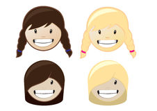 Child head. Set of cildren  heads for design Royalty Free Stock Photography