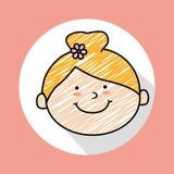 Child head. Design, vector illustration eps10 graphic Stock Image