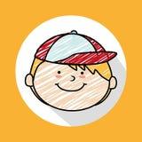 Child head. Design, vector illustration eps10 graphic Stock Photography