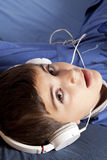 Child with headphone Royalty Free Stock Photography