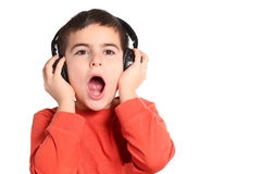 Child with headphone Stock Photos