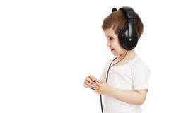 The child in headphones Stock Photos