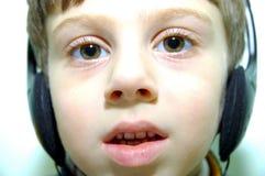 Child With Headphones 3 Stock Image