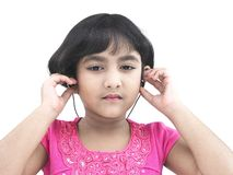 Child with headphones Royalty Free Stock Photos