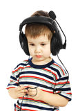 The child in headphones Royalty Free Stock Photos