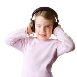 Child with headset Stock Photos