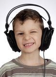 Child with headset Royalty Free Stock Image