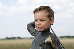 Child with healthy mud Stock Photography