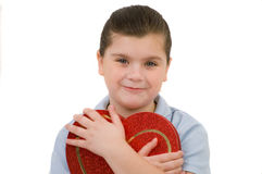 Child with heart 1 Royalty Free Stock Photos