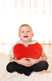 Child with a heart Stock Image