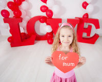 Child with heart Stock Photography