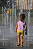 Child and the heat Stock Image