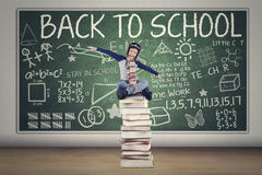 Child with helmet Back to School Stock Images