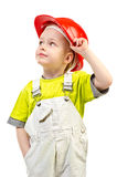 Child in helmet Royalty Free Stock Images