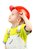 Child in helmet Stock Photo
