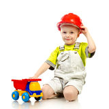 Child in helmet Royalty Free Stock Image