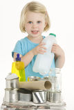 Child Helping With Recycling Stock Photo