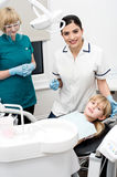 Child on her dental check up. Stock Images