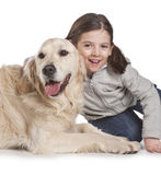 A child with her dog Stock Image