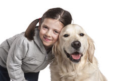 A child with her dog Royalty Free Stock Photography