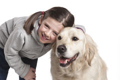 A child with her dog Stock Photography