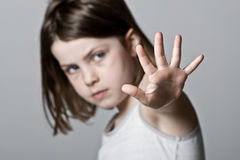 Child with her Hand Up Royalty Free Stock Photos