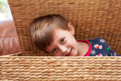Child hiding Royalty Free Stock Photos