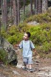 Child hiking stock image