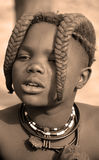 Child from Himba tribe Stock Photo