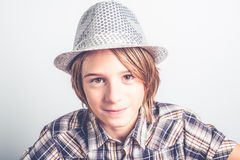 Child with hipster hat Stock Images