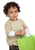 Child with his gift Stock Photography