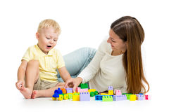 Child and his mother play Royalty Free Stock Photography